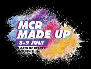 Goodie bags from MCR Made Up event (8-9th July) at Manchester Arndale Centre for first 1000 when pre-register