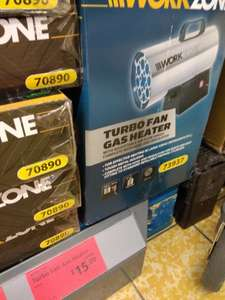 WORKZONE Turbo Fan Gas Heater. Reduced from £69-99 to £15-00 @ Aldi - Prenton Wirral