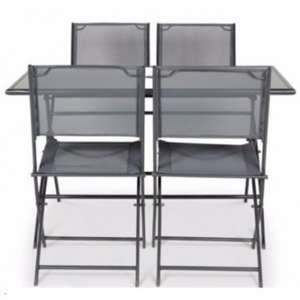 5 Piece Garden Furniture Set - Table & 4 Chairs - B&Q NOW £50 (was £97)