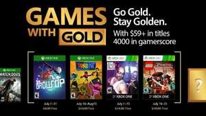 Xbox games with gold July (confirmed)