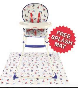 Red Kite Shoy Ahoy highchair with free splash mat now £27 with free click and collect @ George Asda