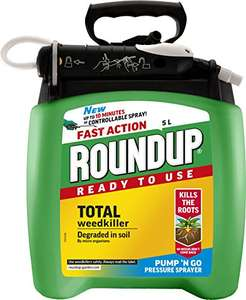 Roundup Fast Action Weedkiller Pump n Go Spray (Ready to Use), 5 L £10 @ Amazon (Prime Exclusive)