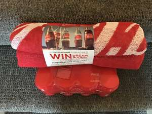 Free Coca-Cola beach towel with purchase of 2x 8pack (2for £6.00) @ Tesco