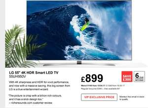 LG 55UH950V 4K Smart LED, £899 INSTORE ONLY @Richersounds