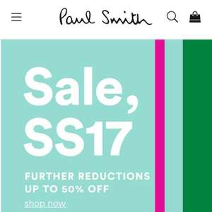 Paul Smith Sale 50% off all SS17