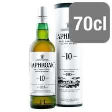 Laphroiag 10 yo Islay Single Malt whisky . £28 - Tesco and Amazon