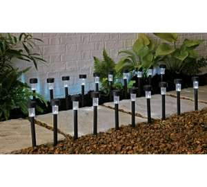 Stainless Steel Solar Marker Lights - Set of 6 half price now £5.99 / Home Set of 20 now £14.99 @ Argos (+ 20% off with code wys £25) more in op