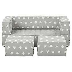 Foam Double Seat With Stool Grey(Stars) Pink(Hearts) - folds into a bed now £72.30 delivered @ Tesco direct