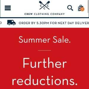 Crew Clothing Sale - Free Delivery