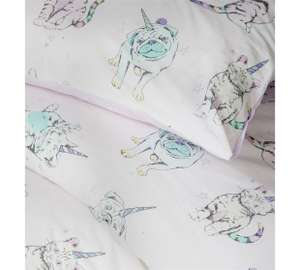 Kittycorn Reversible Duvet Sets from £6.37 @ Argos