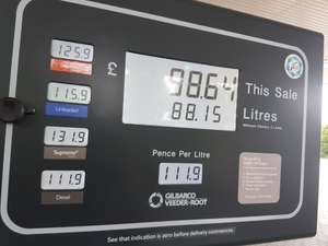 Diesel price error £1.119 at Esso Service in Bicester, Oxfordshire