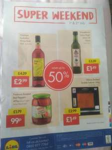 Lidl weekend offers (only 1st & 2nd july) extra virgin olive oil 1.49 750 mls. in store