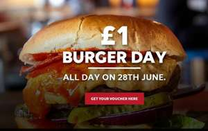 Belushi's burger day. All burgers £1
