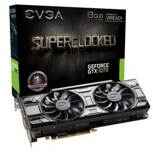 "EVGA 08G-P4-5173-KR GeForce GTX 1070 SuperClocked ACX 3.0 ""Black Edition"" £354.83 @ Amazon"
