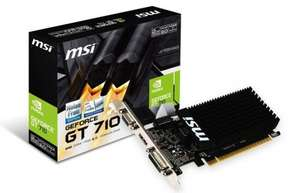 MSI GeForce GT 710 Passive Silent 2 GB Graphics Card - Black £29.99 at Amazon