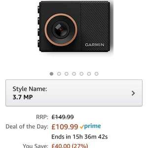 Garmin dash cam 55 £109.99 @ Amazon (DOTD)