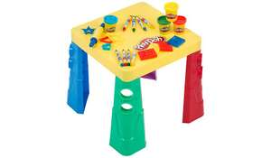 Play-Doh Let's Create Table includes 4x Tubs 56g Dough 4x Chunky Markers 4x Chunky Crayons 5x Sheets of Paper 4x Press Moulds  4x Cutter Moulds  1x Dough Roller now £11.98 @ George Asda