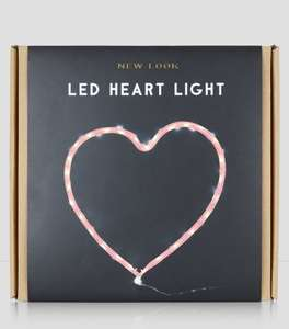 Pink heart led light, was 12.99 now £5.00  @ New Look instore Denton Retail Park and online Del from £3.99