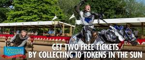 Two Free Tickets to Warwick Castle Worth Over £50 @ the Sun Superdays - £1.50 processing fee.