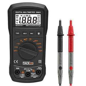Tacklife DM03 Classic Digital Multimeter £7.99 (Prime) £9.98 (Non-prime) Delivered @ Sold by JT-UK and Fulfilled by Amazon