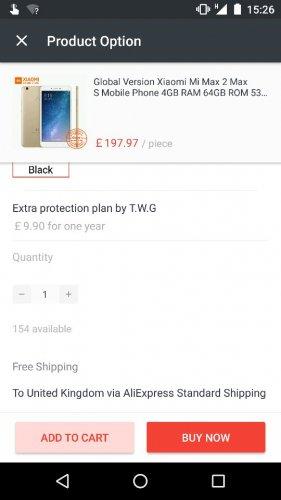 Xiaomi Mi Max 2 £197.97 @ AliExpress Xiaomi Online Store