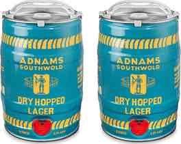 Adnams Dry Hopped Lager £22.99 (delivered) for 2 mini kegs Best Before 31/7 @ Adnams cellar & kitchen