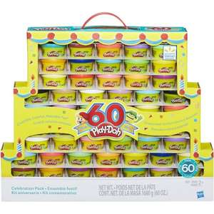 Play-Doh 60th Anniversary Celebration 60 Pack now £14.97 @ Asda (Approx 25p per pot)