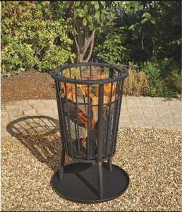 40cm Basket Log Burner now £19 @ George Asda