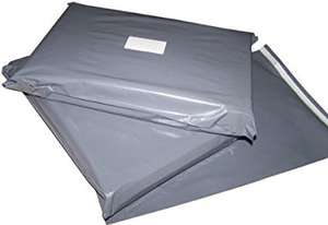 1000x Grey Plastic Poly Mailing Bags 10 x 14'' (Large Letter Size) £22.45 IMOBILETECH @ Amazon