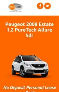 Peugeot 2008 1.2 PureTech Allure 5dr 12 month lease 179.99pm + £300 admin fee = £2,459.88 @ Yes lease