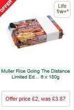 Muller Rice 6x180g - Muller Corner 6 x 135g/150g - Muller Light  6 x 165g/175g  - £2 MORRISONS