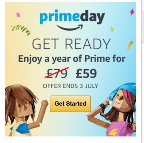 Amazon Prime year membership reduced to £59 saving £20