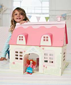 Rosebud dolls house £6.25 from £50 at ELC