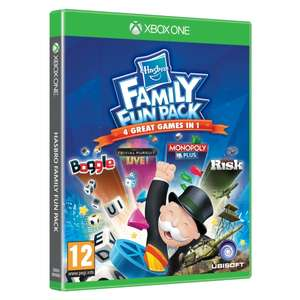 Hasbro Family Fun Pack (Monopoly, Boggle, Trivial Pursuit and Risk) Xbox One Game @ 365GAMES @ £13.49 WITH CODE 10OFF