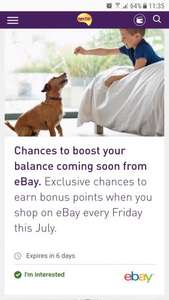 EBay Nectar points boost every Friday in July - poss account specific