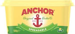 Anchor Spreadable + Anchor Lighter Spreadable (500g) was £2.90 now £2.00 (Rollback Deal)  @ Asda