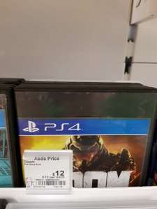 Doom Ps4 £12 @ Asda - Manchester
