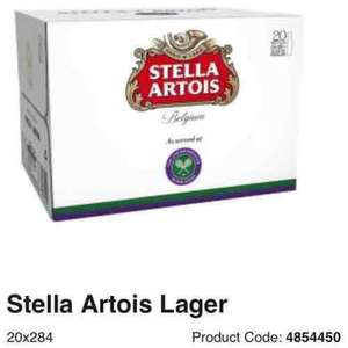 Stella artois 20 x 284ml bottles £10 @ Asda