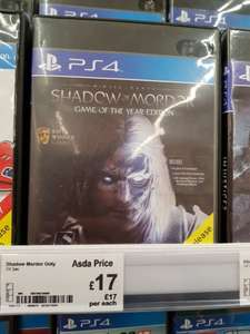 Shadow of Mordor GOTY edition Ps4 - £17 instore @ Asda - Harpurhey Manchester