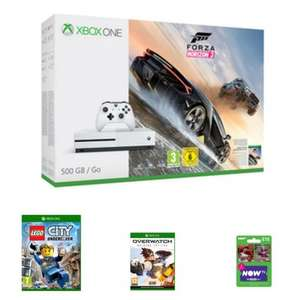 Xbox One S Forza Horizon 3 Bundle 500GB + Lego City Undercover + Overwatch + NOW TV 2 Month Cinema Pass £199.99 with code & also other bundles available @ Game