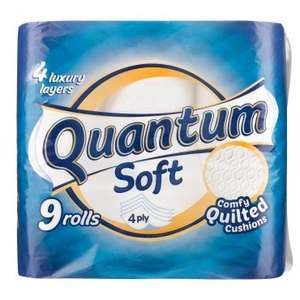 Quantum Soft Quilted Toilet Roll 9 Pack (4 - Ply) ONLY £2.00 @ Poundland