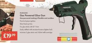 Glue Gun (Gas Powered from standard butane lighter fuel)  - £19.99 LIDL (Parkside) - Glue Sticks 18 Pack £2.99