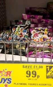 Playmobil Figures blind bags - pink and black 99p at Home Bargains Bangor, North Wales