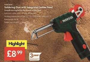 Soldering Gun with Integrated Solder Feed - £8.99 LIDL (Parkside) - 3 Year Warranty
