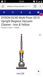 DYSON DC40 2015 UPRIGHT Vacuum £160.64 @ Currys