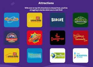 2for1 tickets at Merlin Entertainments over top 20 UK attractions with £2ish Chocolates