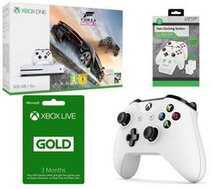 Xbox One S 500GB with Forza Horizon 3 or Fifa 17+ Wireless Controller + Xbox LIVE Gold Membership 3 Month Subscription + VENOM VS2859 Xbox One Twin Docking Station £219 with code @ Currys