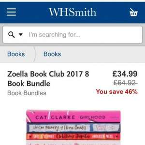 8 Books £34.99 @ WHSmith