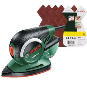 Bosch PSM Primo Multi-Sander + 25 Sanding Sheets - was £59.99 reduced to £39.99 now £35.99 with code @ Robert Dyas