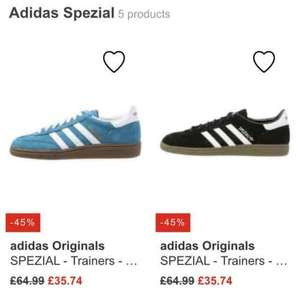 adidas Originals Spezial trainers all men's sizes at Zalando £35.74 delivered + quidco sizes